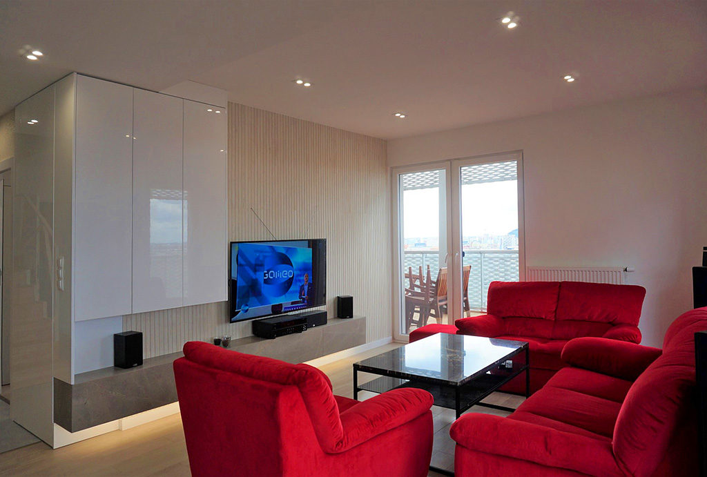 komfortowy, wytworny salon w mieszkaniu na sprzedaż Wrocław Stare Miasto
