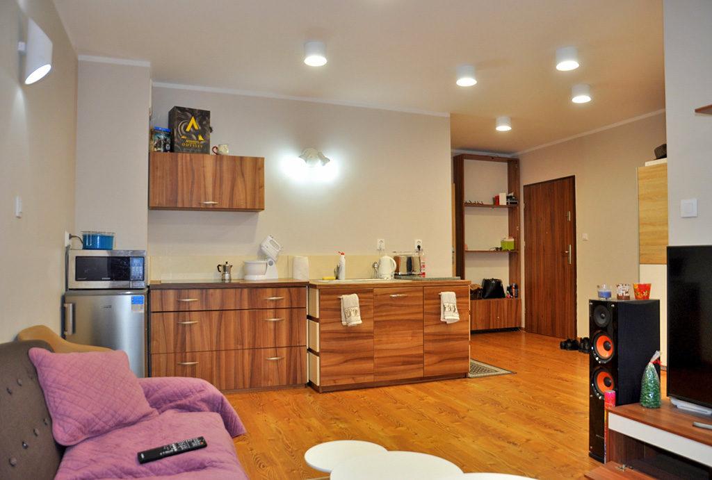 salon oraz przedpokój w mieszkaniu na sprzedaż Wrocław (okolice)