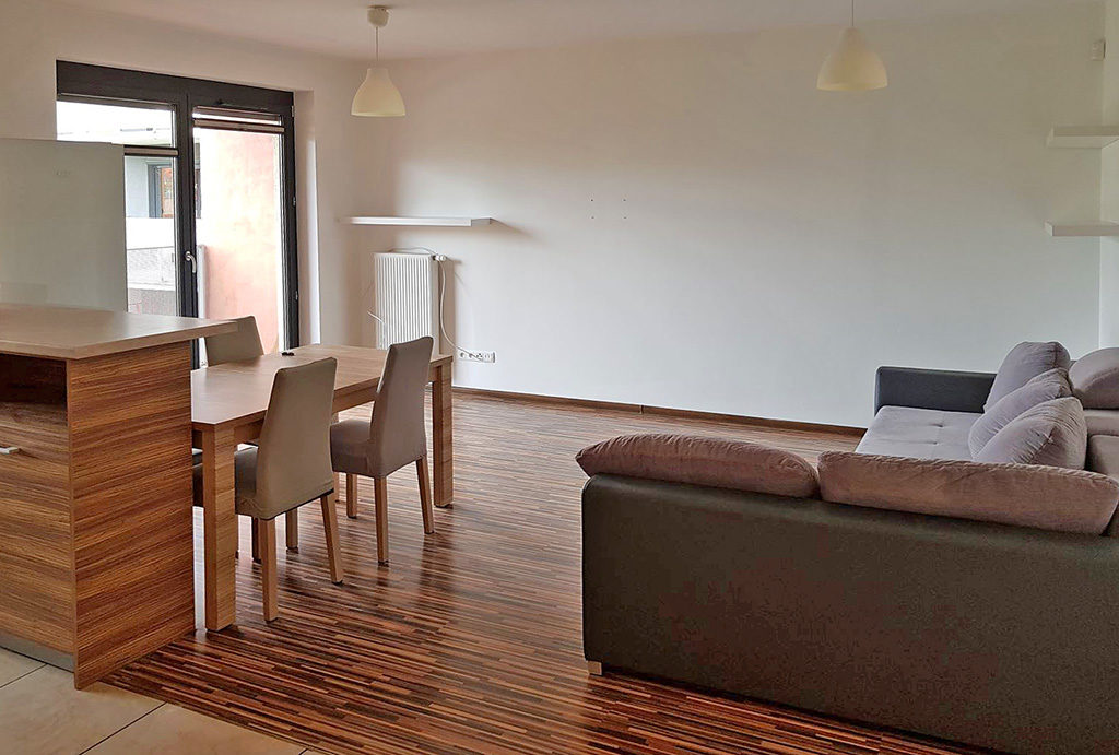 luksusowy salon w mieszkaniu na wynajem Wrocław Fabryczna