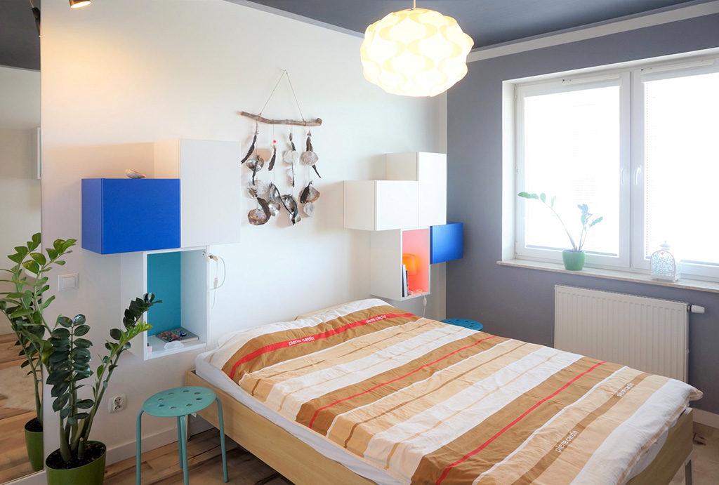 elegancka sypialnia w mieszkaniu do sprzedaży Wrocław Fabryczna