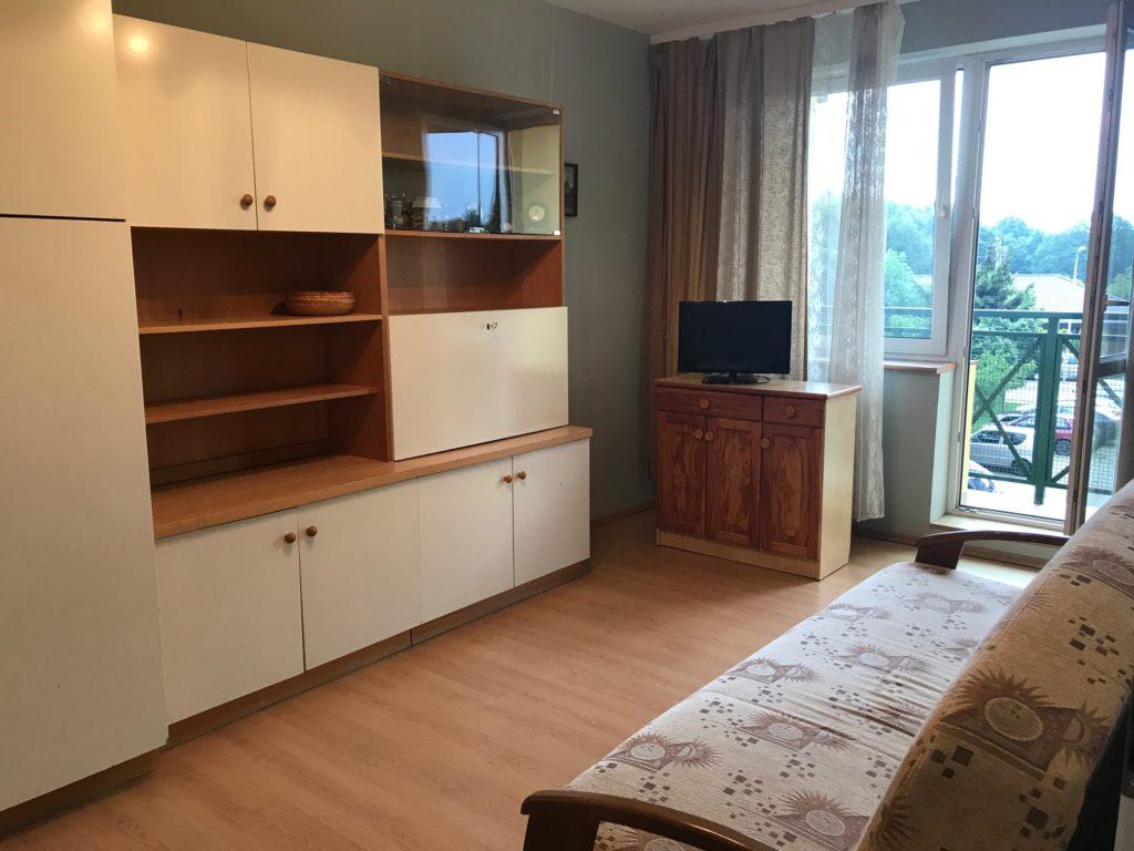na zdjęciu komfortowy salon w mieszkaniu do wynajmu Wrocław Fabryczna