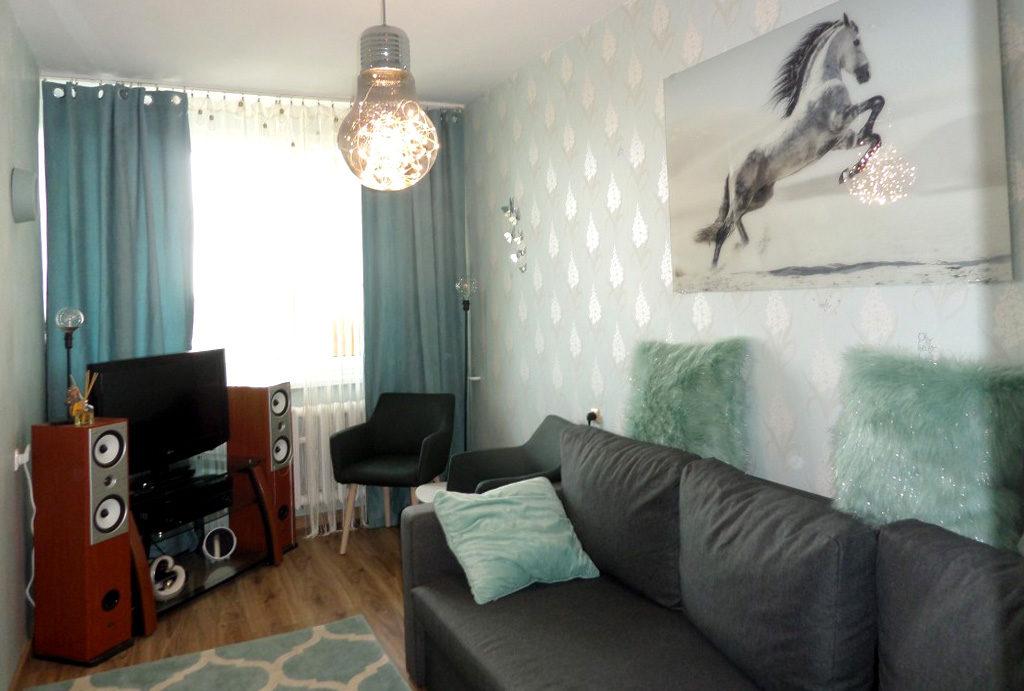 widok na elegancką sypialnię w mieszkaniu do wynajmu Wrocław Krzyki