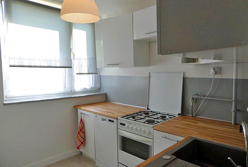 funkcjonalnie umeblowana kuchnia w mieszkaniu na wynajem Wrocław Psie Pole