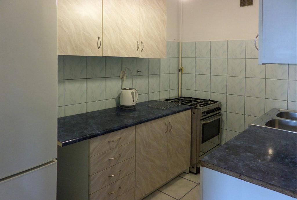zabudowana komfortowo kuchnia w mieszkaniu do wynajęcia Wrocław Stare Miasto