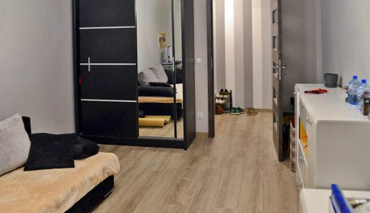 widok z salonu na przedpokój w mieszkaniu do wynajęcia Wrocław