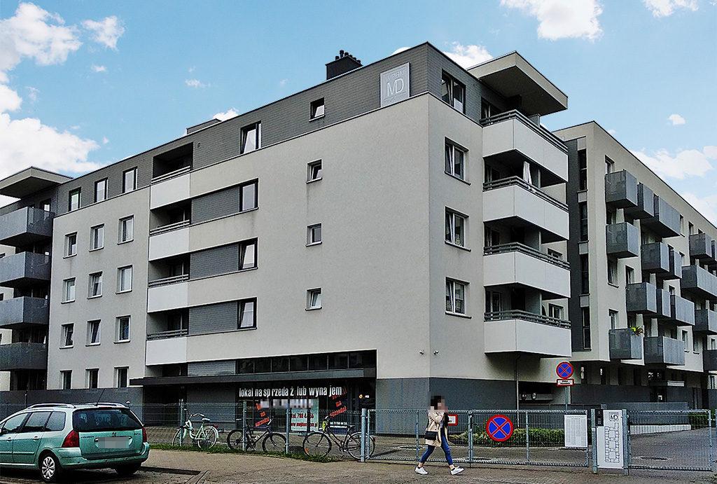 zdjęcie przedstawia budynek, w którym mieści się oferowane do wynajęcia mieszkanie Wrocław Śródmieście