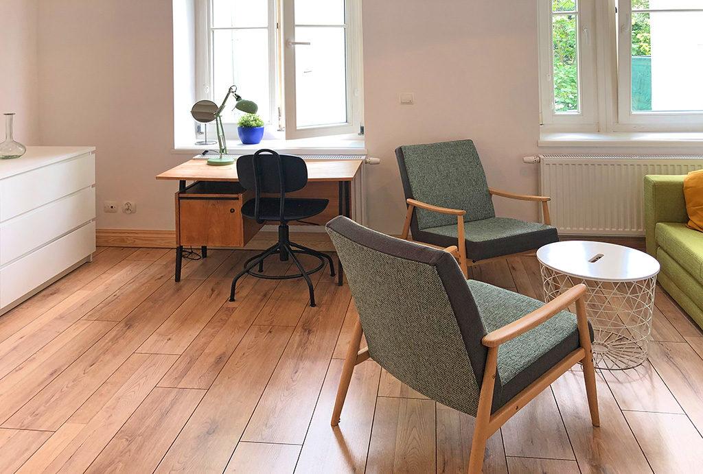 widok na salon w mieszkaniu do wynajęcia Wrocław Śródmieście