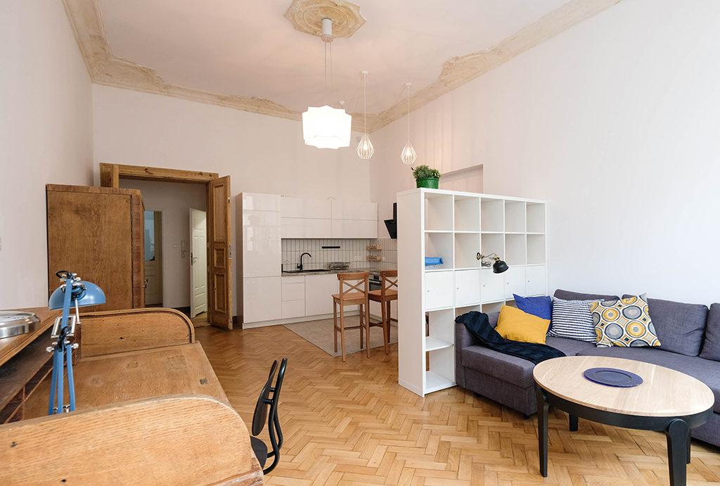 komfortowe wnętrze mieszkania do wynajęcia Wrocław Centrum