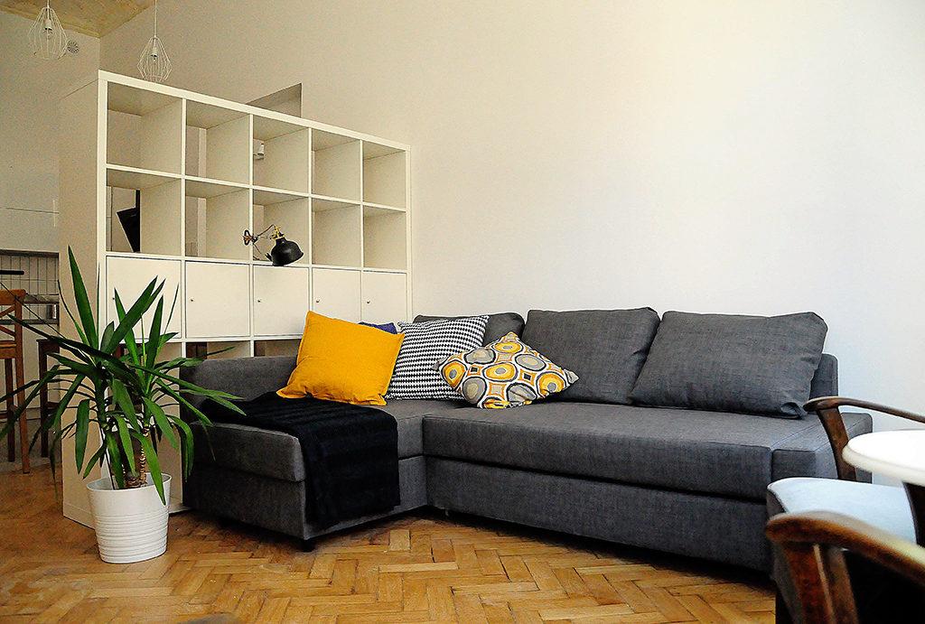 fragment salonu w mieszkaniu na wynajem Wrocław Centrum