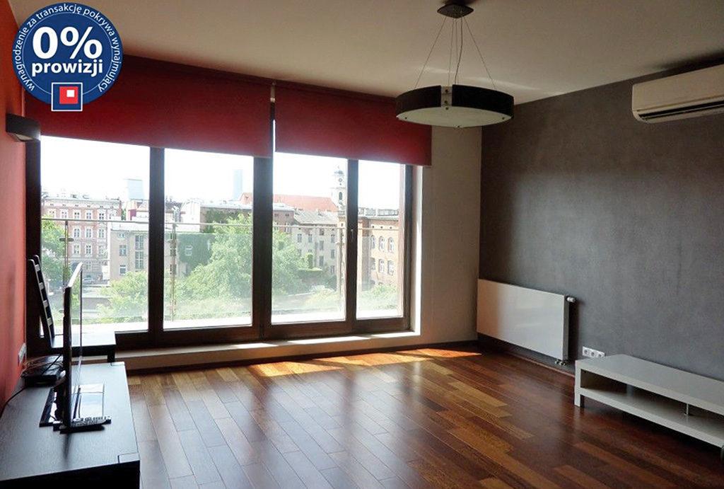 przestronny salon w mieszkaniu do wynajęcia Wrocław Krzyki