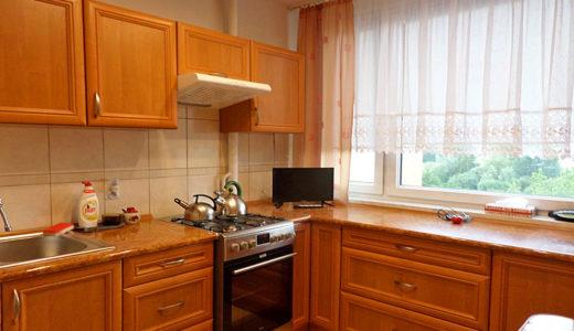 komfortowo zabudowa kuchnia w mieszkaniu na wynajem Wrocław Psie Pole
