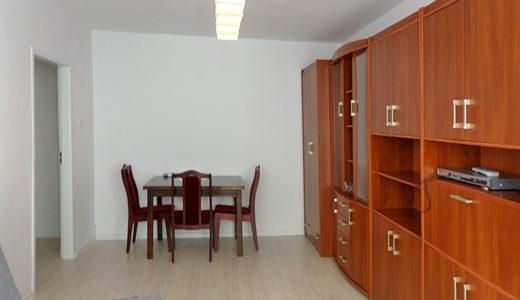 na zdjęciu komfortowa jadalnia oraz salon w mieszkaniu na wynajem Wrocław Psie Pole