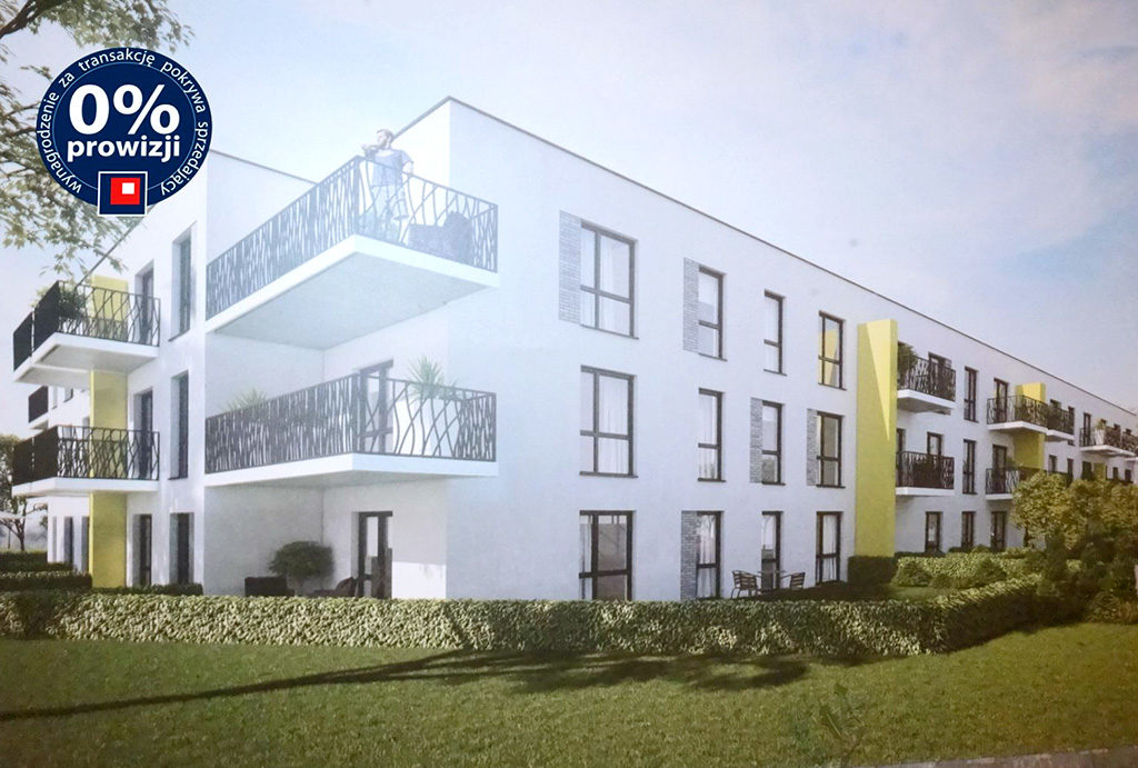 widok od strony osiedla na budynek, w którym znajduje się oferowane do sprzedaży mieszkanie Wrocław Wojszyce