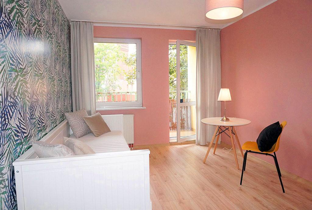 widok na sypialnię w mieszkaniu na sprzedaż Wrocław Śródmieście