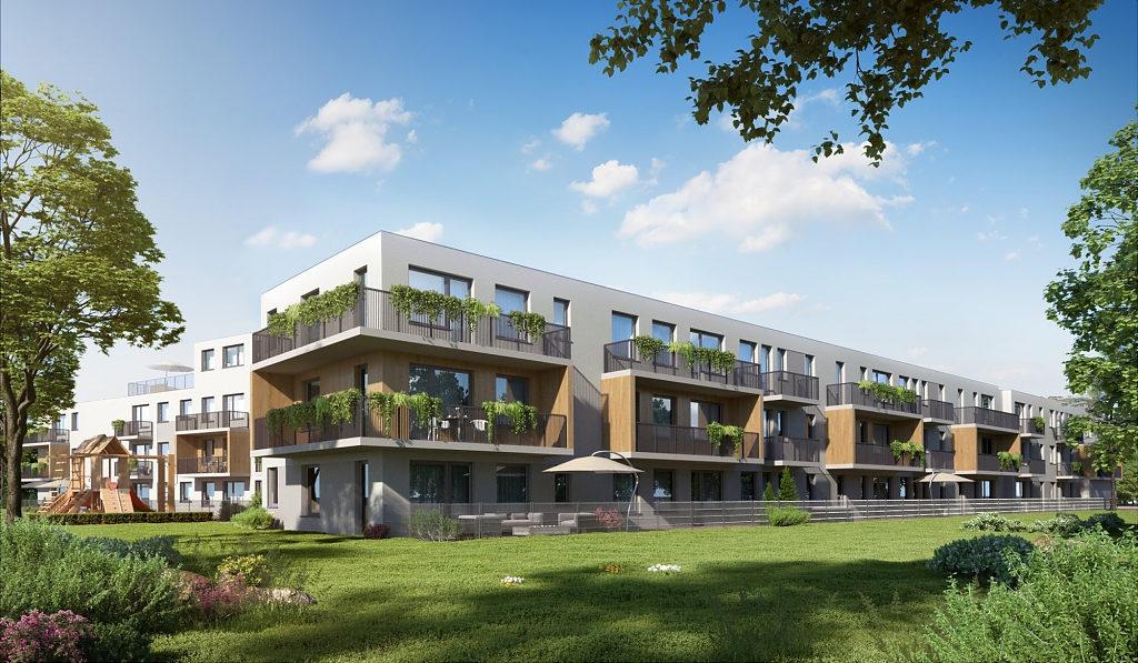 malownicza, zielona lokalizacja, w której znajduje się mieszkanie do sprzedaży Wrocław Fabryczna