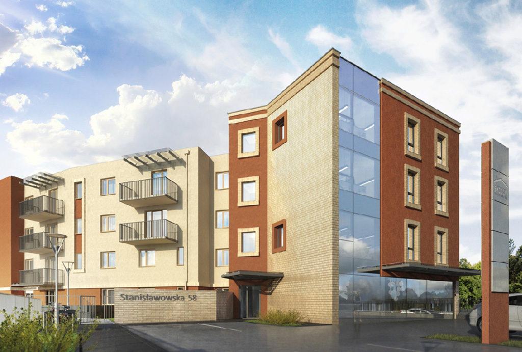na zdjęciu blok, w którym znajduje się oferowane do sprzedaży mieszkanie Wrocław Fabryczna
