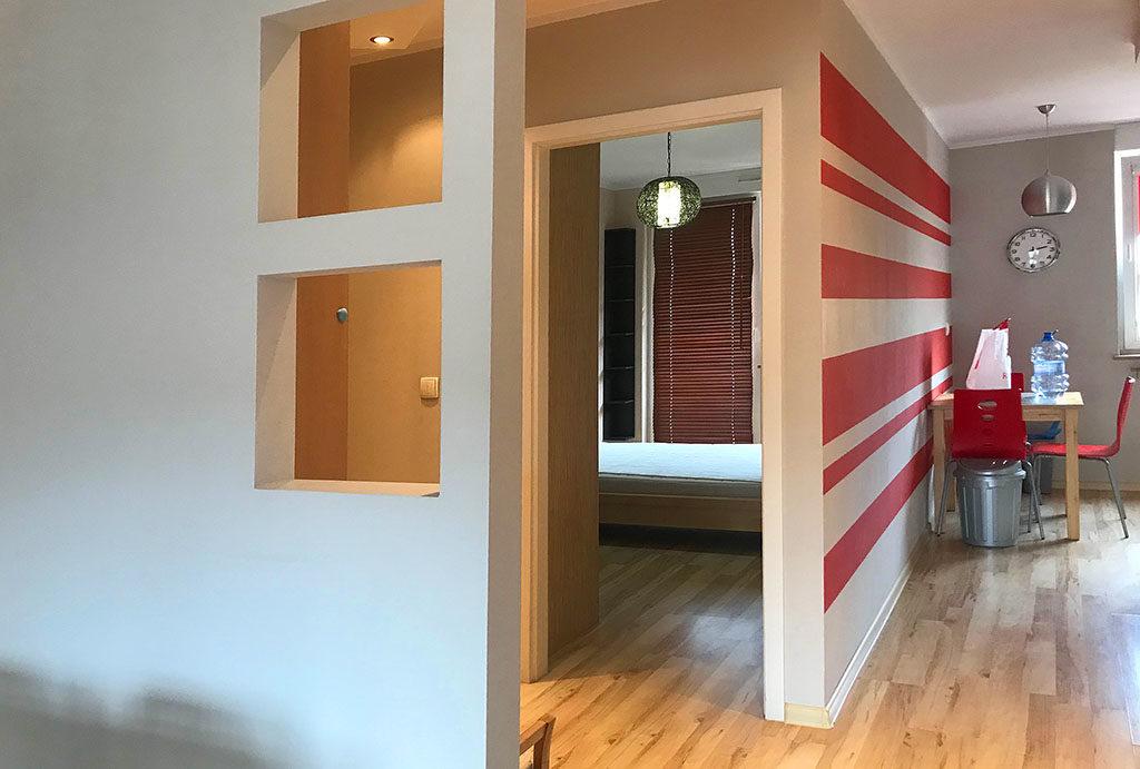 komfortowe i przestronne wnętrze w mieszkaniu na wynajem Wrocław Fabryczna