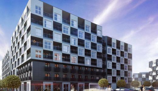 prestiżowy apartamentowiec, w którym mieści się oferowane do sprzedaży mieszkanie Wrocław Fabryczna