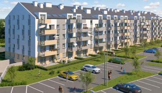 panorama osiedla, na którym mieści się oferowane na sprzedaż mieszkanie Wrocław Krzyki