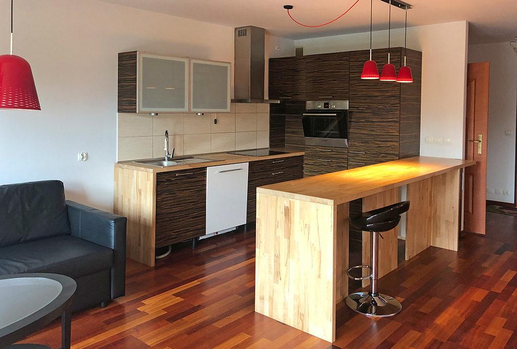 zaprojektowana w nowoczesnym stylu kuchnia w mieszkaniu do wynajęcia Wrocław Krzyki