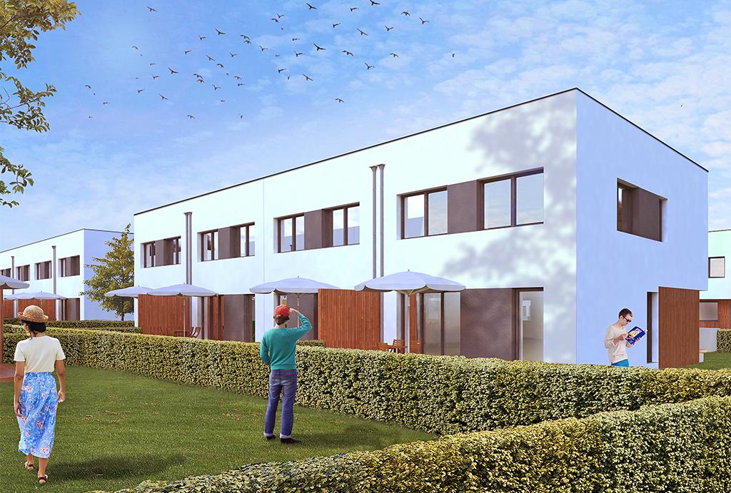 starannie zagospodarowane tereny zielone wokół mieszkania na sprzedaż Wrocław Krzyki