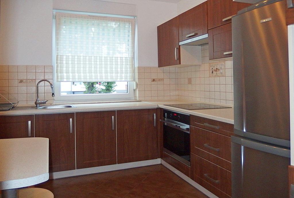 zabudowana nowocześnie kuchnia w mieszkaniu doi wynajmu Wrocław Psie Pole