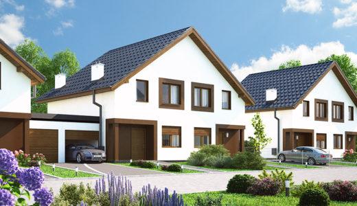 widok na osiedle, na którym znajduje się oferowane na sprzedaż mieszkanie Wrocław (okolice)