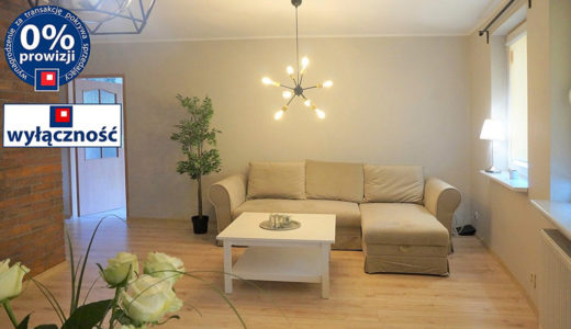 nowoczesny salon w mieszkaniu na sprzedaż Wrocław Śródmieście