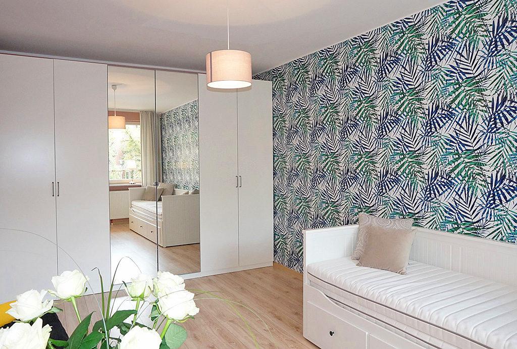 zaciszna, elegancka sypialnia w mieszkaniu do sprzedaży Wrocław Śródmieście