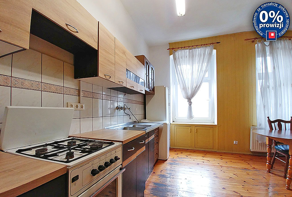 kuchnia w nowoczesnej zabudowie w mieszkaniu do sprzedaży Wrocław Śródmieście