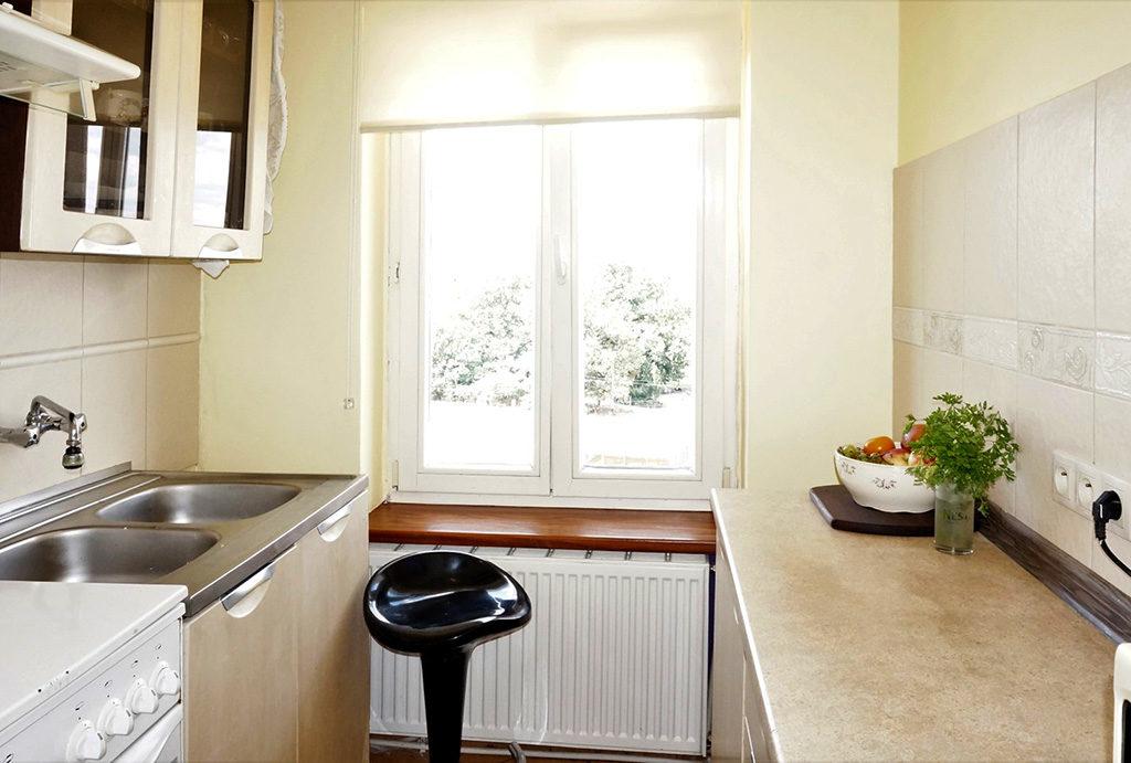 zabudowana kuchnia w mieszkaniu na sprzedaż Wrocław Śródmieście
