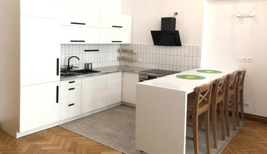 funkcjonalnie zabudowana kuchnia w mieszkaniu do wynajęcia Wrocław Śródmieście