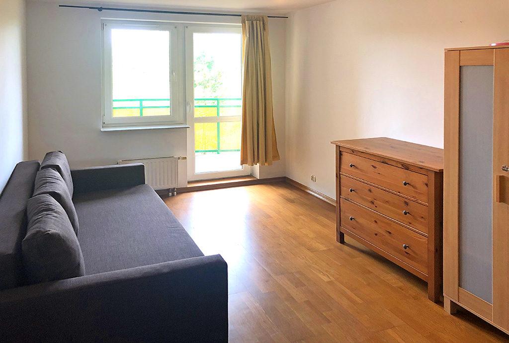widok na sypialnię w mieszkaniu do wynajęcia Wrocław Krzyki