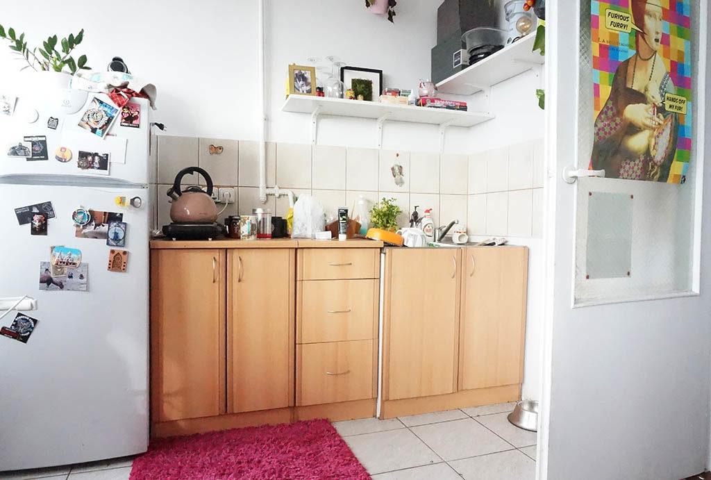 funkcjonalnie zaaranżowana kuchnia w mieszkaniu na sprzedaż Wrocław Krzyki