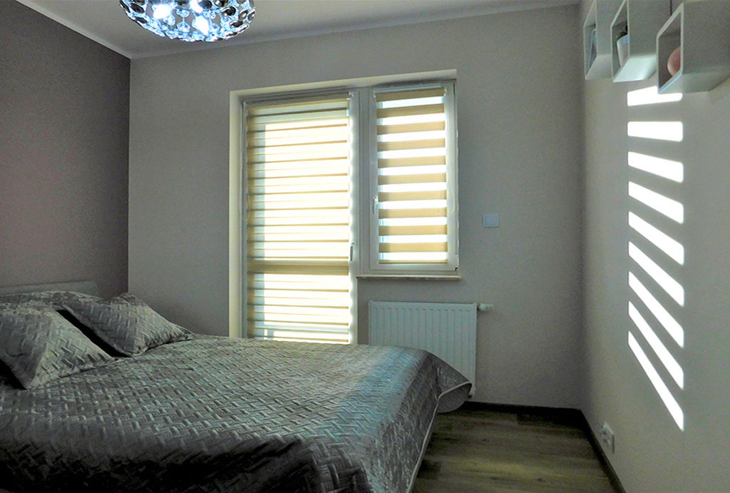 zaciszna sypialnia w mieszkaniu na wynajem Wrocław (okolice)