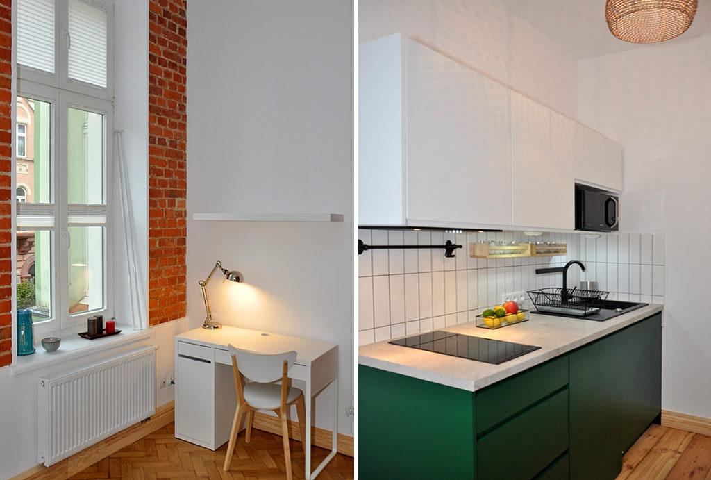 gabinet oraz kuchnia w mieszkaniu na wynajem Wrocław Śródmieście