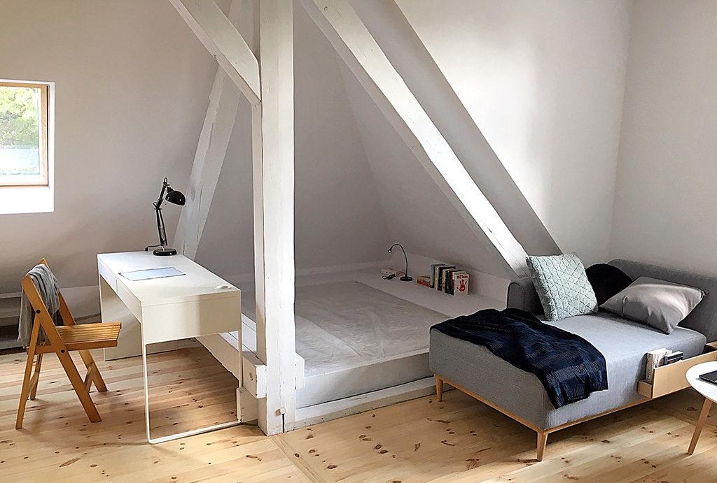 prywatna, elegancka sypialnia w mieszkaniu do wynajęcia Wrocław Śródmieście