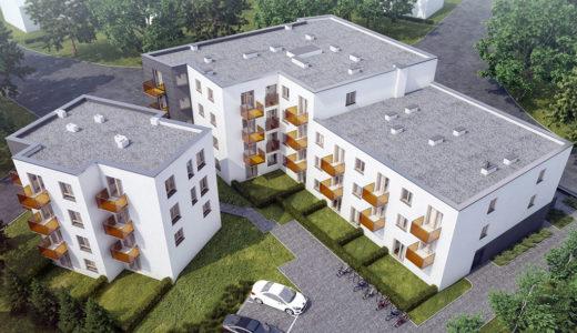 widok z drona na całe osiedle, gdzie znajduje się mieszkanie na sprzedaż Wrocław Krzyki
