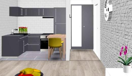 zaprojektowany w nowoczesnym stylu salon w mieszkaniu do sprzedaży Wrocław Krzyki