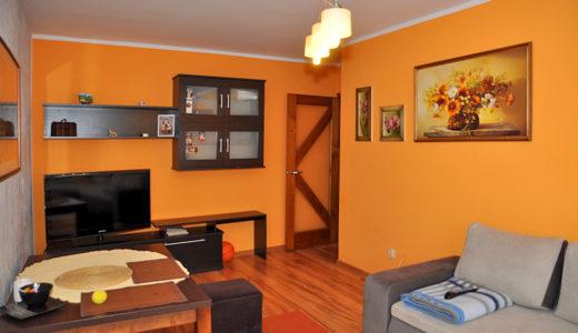 komfortowy salon w mieszkaniu do sprzedaży Wrocław (okolice)