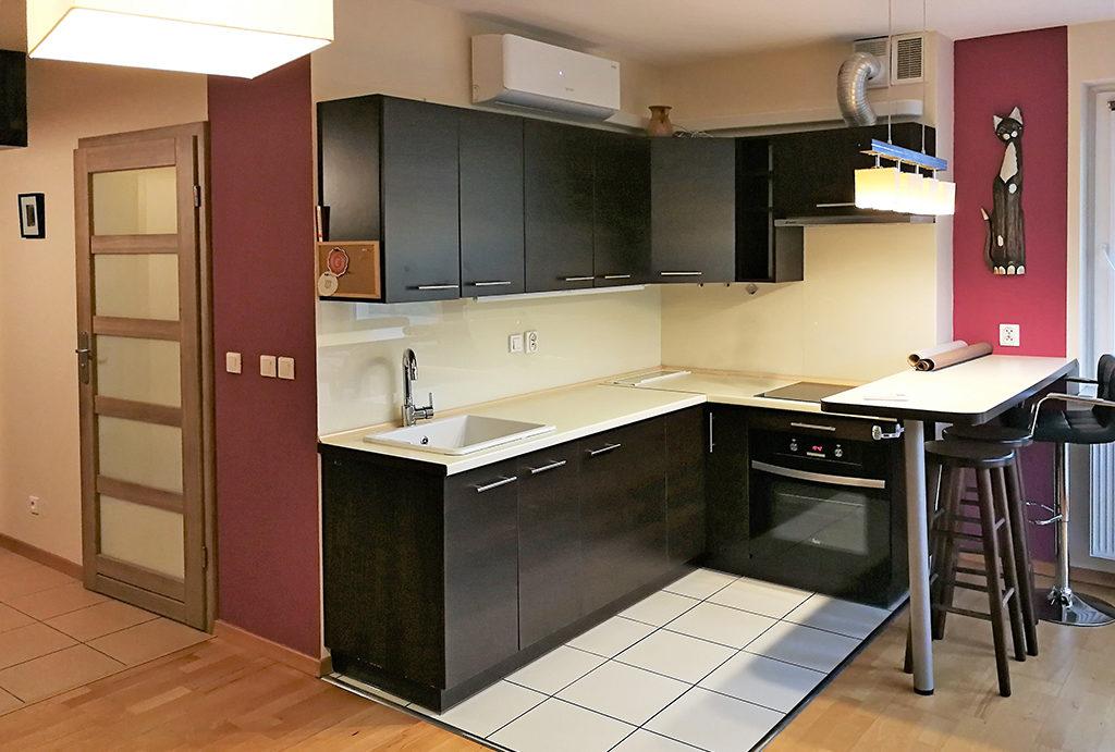 funkcjonalnie zabudowana kuchnia w mieszkaniu na wynajem Wrocław okolice