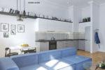 ekskluzywny salon w mieszkaniu do sprzedaży Wrocław