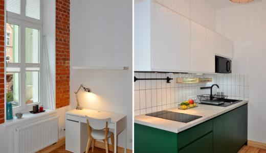 zdjęcie przedstawia kuchnię oraz gabinet w mieszkaniu do wynajęcia Wrocław Śródmieście
