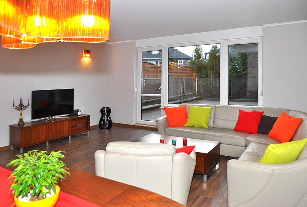 luksusowy salon w mieszkaniu do wynajmu Wrocław Krzyki