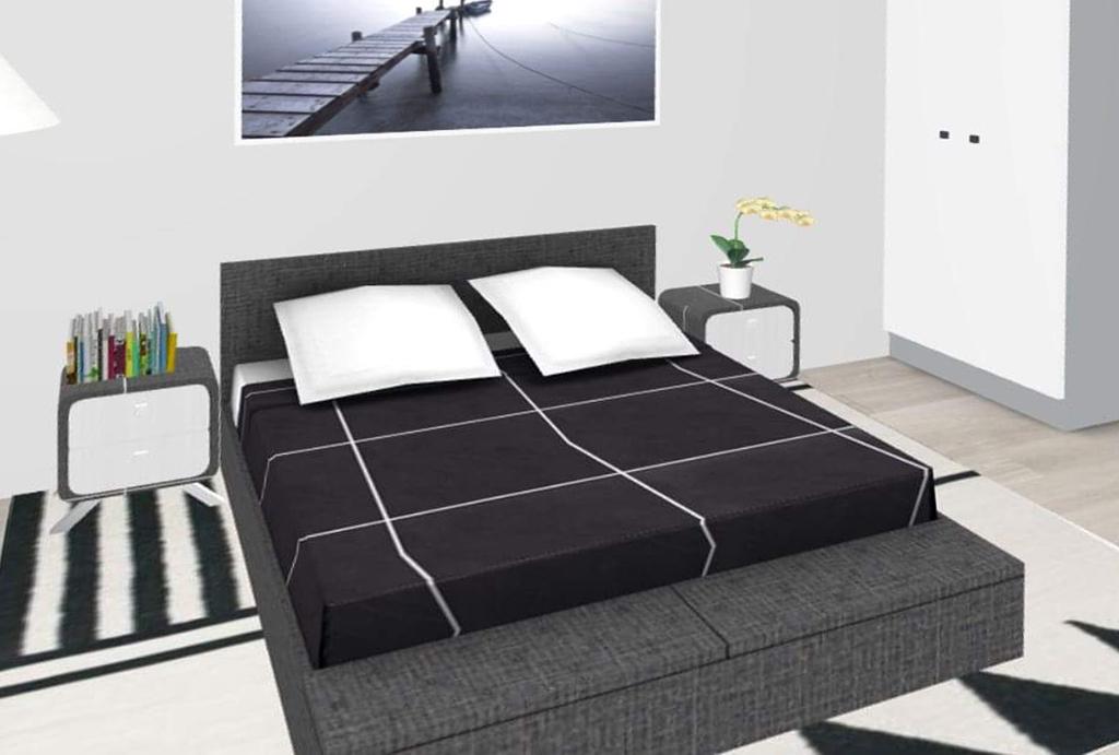elegancka sypialnia w mieszkaniu do sprzedaży Wrocław Krzyki