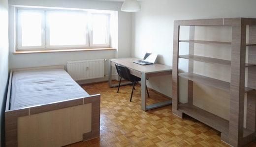 widok na elegancką sypialnię w mieszkaniu na sprzedaż Wrocław Psie Pole