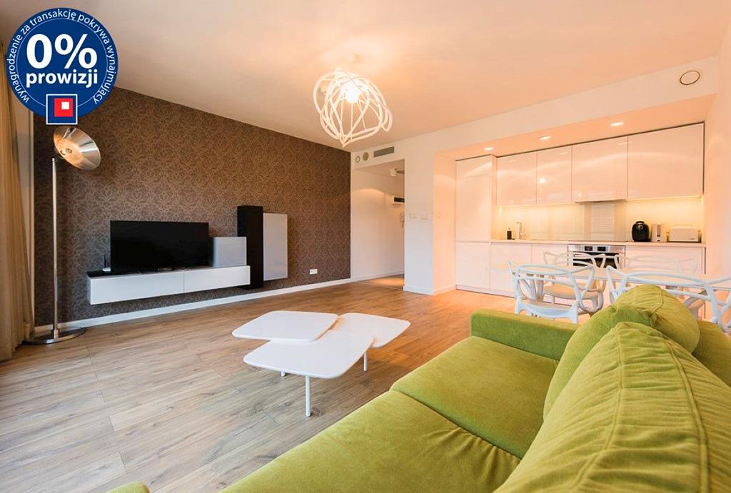 komfortowy i prestiżowy salon w mieszkaniu do wynajmu Wrocław Stare Miasto