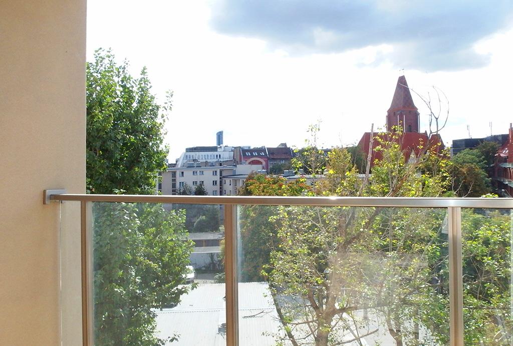 zapierający dech w piersiach widok na panoramę miasta z okien mieszkania ma sprzedaż Wrocław Stare Miasto