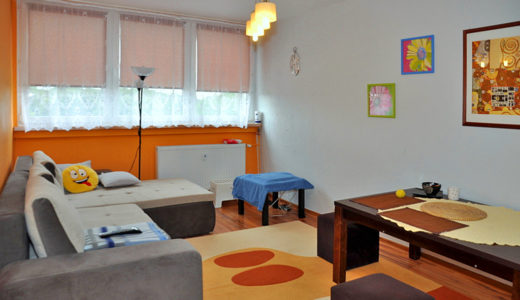 prestiżowy i przestronny salon w mieszkaniu na sprzedaż Wrocław (okolice)