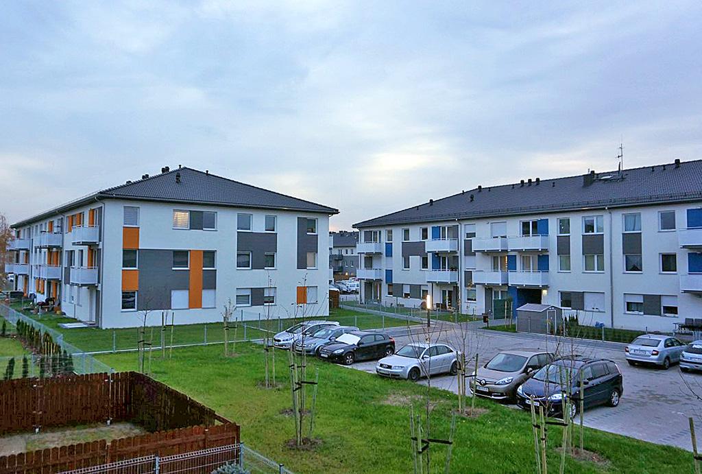 prestiżowe osiedle, na którym znajduje się oferowane na wynajem mieszkanie Wrocław (okolice)